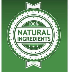 natural ingredients badge vector image