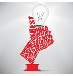 Ok hand lamp bulb vector