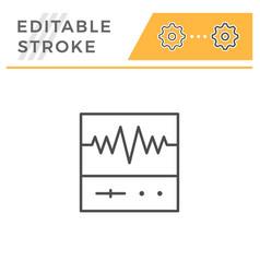 oscilloscope editable stroke line icon vector image