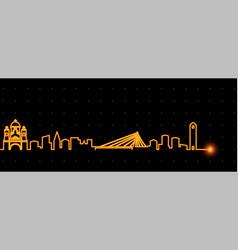 Podgorica light streak skyline vector