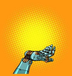 robot hand presentation gesture vector image