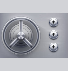 safe with keyholes vector image