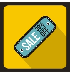 Sale tag 30 percent off icon flat style vector image