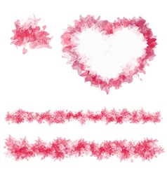Sample abstract heart and lines vector