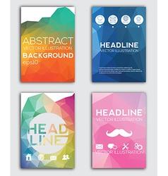 set flyer brochure design templates geometric vector image