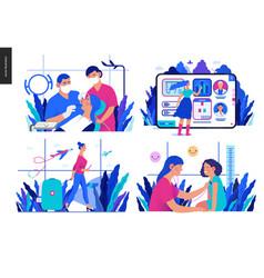 Set medical insurance vector