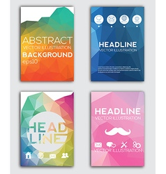 Set of Flyer Brochure Design Templates Geometric vector image