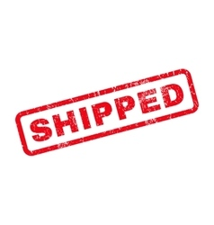 Shipped Rubber Stamp vector image
