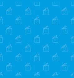 slapstick pattern seamless blue vector image