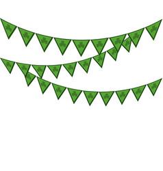 St patricks day pennant design vector