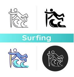 Superman surfing technique icon vector