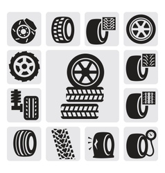 Tire icons vector