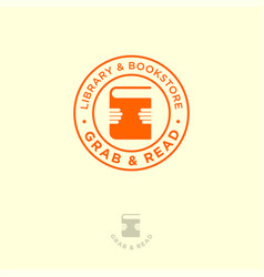 To grab books hand symbol library bookstore vector