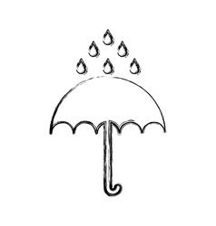 Umbrella protection isolated icon vector