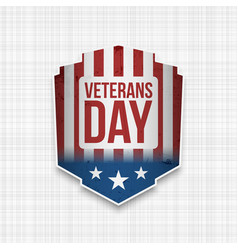Veterans day usa patriotic sign vector