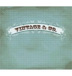 vintage dot card vector image