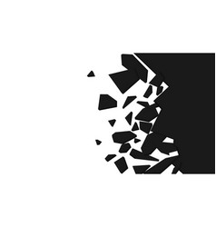 Wall explosion fragment vector