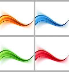 Wave border colorful certificate cards collection vector image vector image