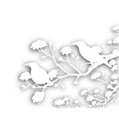 Wild birds cutout vector