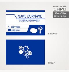 workshop car business card vector image