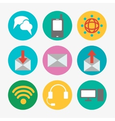 Communications icons vector image