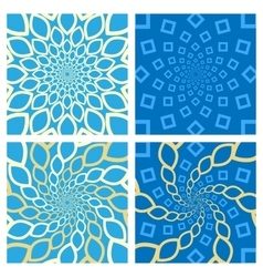 Geometric Background Set Oriental Style vector image