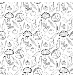 hand drawn seamless background of healthy vector image