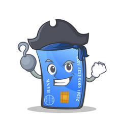 Pirate credit card character cartoon vector