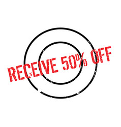 receive 50 off rubber stamp vector image vector image
