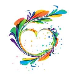 Art heart vector image