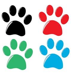 cat paw vector image