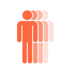 four human sign people symbol vector image