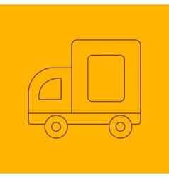 Medium truck line icon vector image vector image