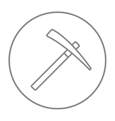 Pickax line icon vector image