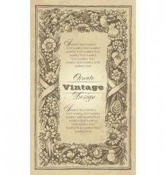 vintage frame design vector image vector image