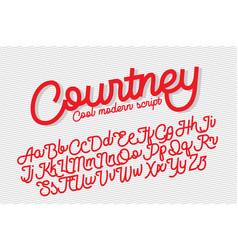 courtney cool modern script font vector image