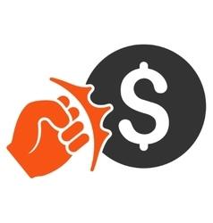 Crime Racket Flat Icon vector image