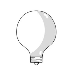 line energy bulb to illuminate places vector image vector image