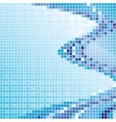 Mosaic blue vector image vector image