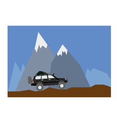 off road mountain vector image vector image