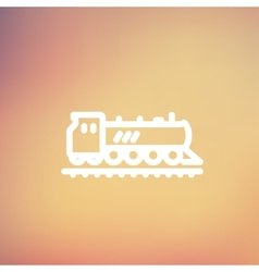 Railroad train thin line icon vector image