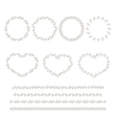 Set of hand drown decorative elements vector image vector image