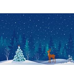 Snow scene vector image vector image