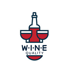 wine quality label design element for menu vector image