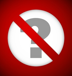 Ban sign vector image