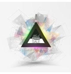Black friday element colorful design sale banner vector image