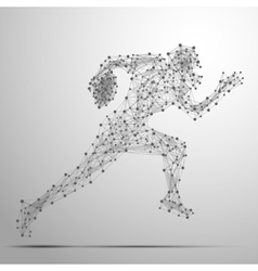 footballer poly gray vector image vector image
