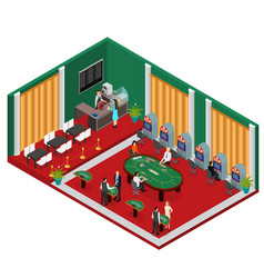 interior casino isometric view vector image vector image