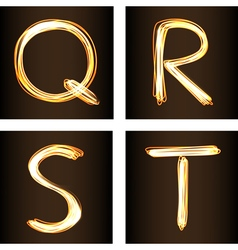 Q R S T vector image vector image