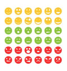 smiley emoticon icons vector image vector image